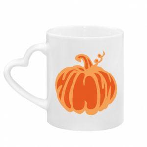 Kubek z uchwytem w kształcie serca Orange pumpkin