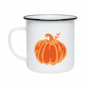 Kubek emaliowany Orange pumpkin
