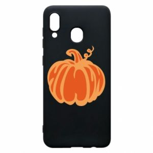 Etui na Samsung A20 Orange pumpkin
