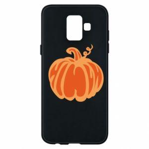 Etui na Samsung A6 2018 Orange pumpkin