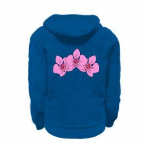 Bluza na zamek dziecięca Orchid flowers