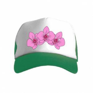 Kid's Trucker Hat Orchid flowers