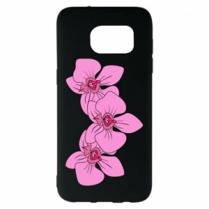 Etui na Samsung S7 EDGE Orchid flowers