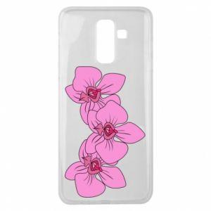 Etui na Samsung J8 2018 Orchid flowers