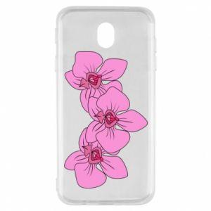 Etui na Samsung J7 2017 Orchid flowers