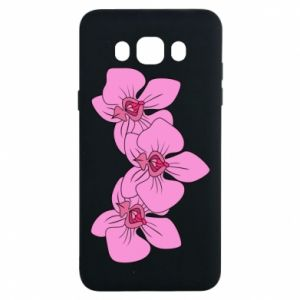 Etui na Samsung J7 2016 Orchid flowers