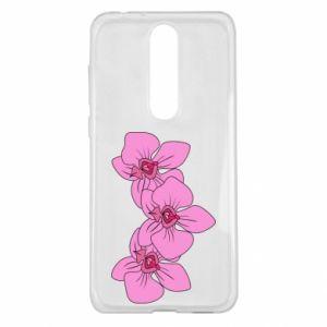 Etui na Nokia 5.1 Plus Orchid flowers
