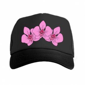 Czapka trucker Orchid flowers