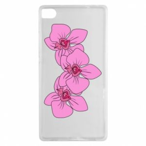 Etui na Huawei P8 Orchid flowers