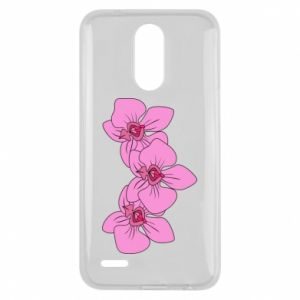 Etui na Lg K10 2017 Orchid flowers