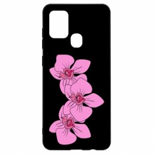 Etui na Samsung A21s Orchid flowers