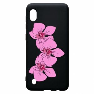 Etui na Samsung A10 Orchid flowers