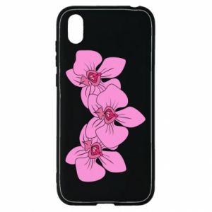 Etui na Huawei Y5 2019 Orchid flowers