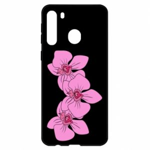 Etui na Samsung A21 Orchid flowers