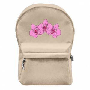 Backpack with front pocket Orchid flowers