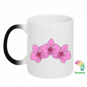 Kubek-kameleon Orchid flowers