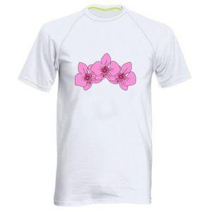 Koszulka sportowa męska Orchid flowers