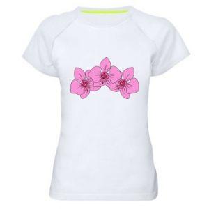 Koszulka sportowa damska Orchid flowers