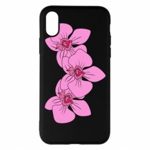 Etui na iPhone X/Xs Orchid flowers