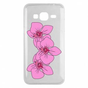 Etui na Samsung J3 2016 Orchid flowers