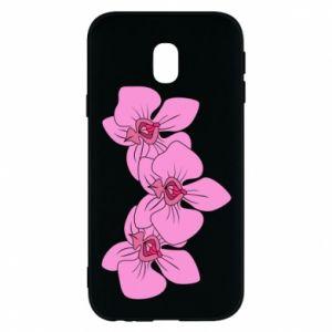 Etui na Samsung J3 2017 Orchid flowers