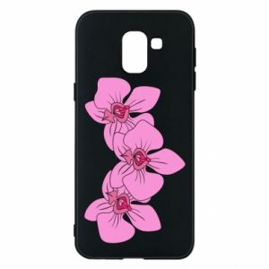 Etui na Samsung J6 Orchid flowers