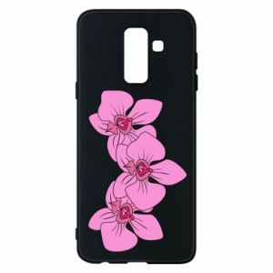 Etui na Samsung A6+ 2018 Orchid flowers
