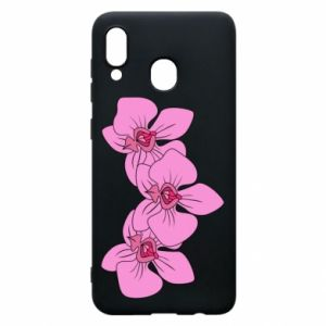 Etui na Samsung A20 Orchid flowers