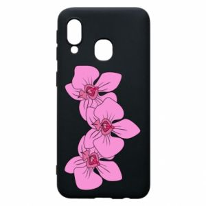 Etui na Samsung A40 Orchid flowers
