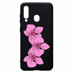 Etui na Samsung A60 Orchid flowers