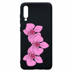 Etui na Samsung A70 Orchid flowers