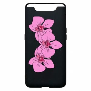 Etui na Samsung A80 Orchid flowers