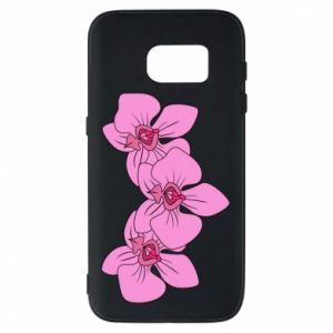 Etui na Samsung S7 Orchid flowers