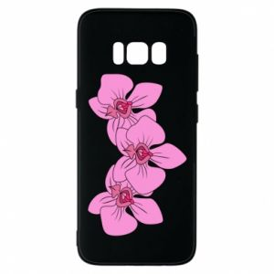 Etui na Samsung S8 Orchid flowers