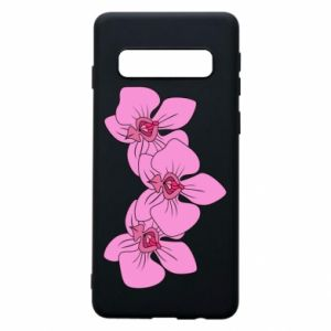 Etui na Samsung S10 Orchid flowers