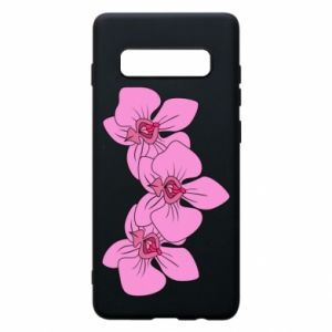 Etui na Samsung S10+ Orchid flowers