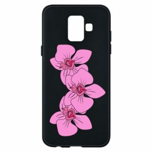 Etui na Samsung A6 2018 Orchid flowers