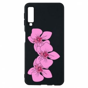 Etui na Samsung A7 2018 Orchid flowers