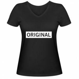 Damska koszulka V-neck Original - PrintSalon