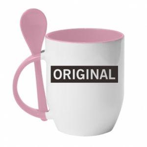 Kubek z ceramiczną łyżeczką Original - PrintSalon