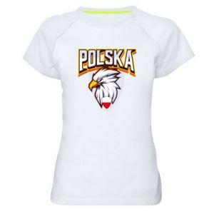 Koszulka sportowa damska Orzeł biały