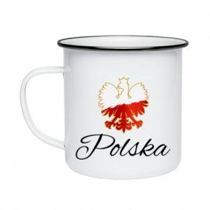 Kubek emaliowany Orzeł Polska
