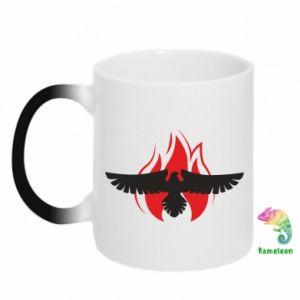 Kubek-kameleon Orzeł w ogniu