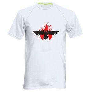 Męska koszulka sportowa Orzeł w ogniu