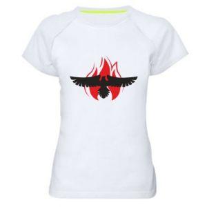 Damska koszulka sportowa Orzeł w ogniu