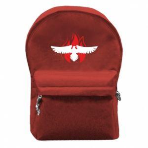 Plecak z przednią kieszenią Orzeł w ogniu