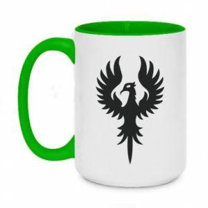 Two-toned mug 450ml Еagle big wings
