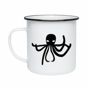 Enameled mug Octopus