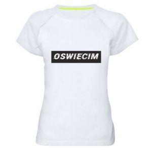 Women's sports t-shirt City Oswiecim