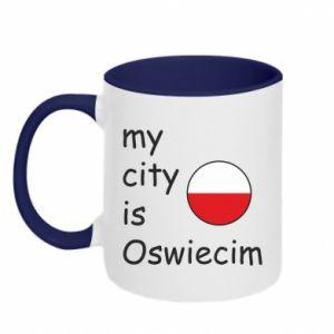 Kubek dwukolorowy My city is Oswiecim